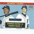 2007 Topps 52 Dynamic Duo Cameron Maybin Andrew Miller Detroit Tigers Baseball Card Rookie