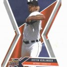 2008 Upper Deck X Silver Die Cut Justin Verlander Detroit Tigers Baseball Card