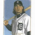 2008 Upper Deck Masterpieces Magglio Ordonez Detroit Tigers Baseball Card