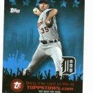 2009 Topps Town Justin Verlander Detroit Tigers Baseball Card