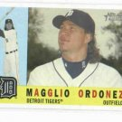 2009 Topps Heritage Magglio Ordonez Detroit Tigers Baseball Card
