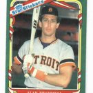 1987 Fleer Star Sticker Alan Trammell Detroit Tigers Baseball Card Oddball