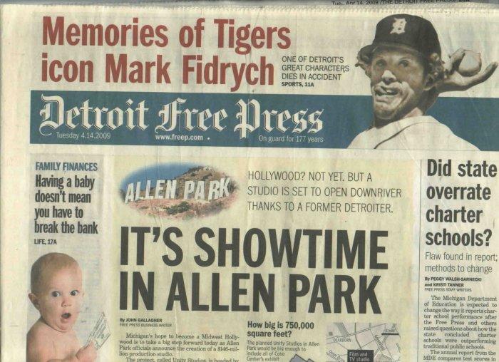 April 14 2009 Detroit Free Press Memories Of Mark Fidrych Detroit Tigers Newspaper The Bird
