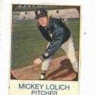 1975 Hostess Mickey Lolich Detroit Tigers Baseball Card Oddball