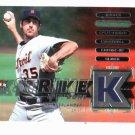 2007 Fleer Ultra Strike Zone Justin Verlander Detroit Tigers Baseball Card