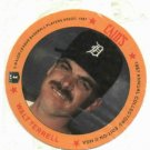 1987 Cains Chips Walt Terrell Detroit Tigers Baseball Disc Card Unopened