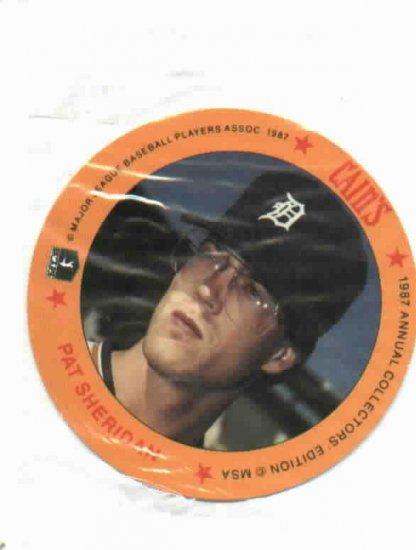 1987 Cains Chips Pat Sheridan Detroit Tigers Baseball Disc Card Unopened
