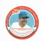 1989 King B Kirk Gibson Baseball Disc Card Detroit Tigers Los Angeles Dodgers