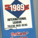 Complete Sealed 1989 Toledo Mud Hens Baseball Card Set