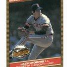 1986 Donruss Highlights Jack Morris Detroit Tigers Baseball Card Oddball