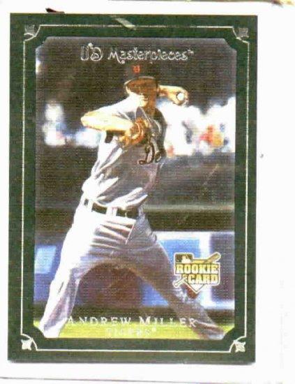 2007 Upper Deck Masterpieces Windsor Green Andrew Miller Detroit Tigers Rookie Card