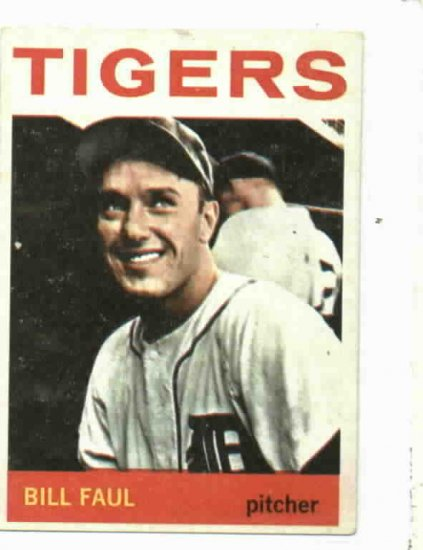 1964 Topps Bill Faul Detroit Tigers Baseball Card # 236