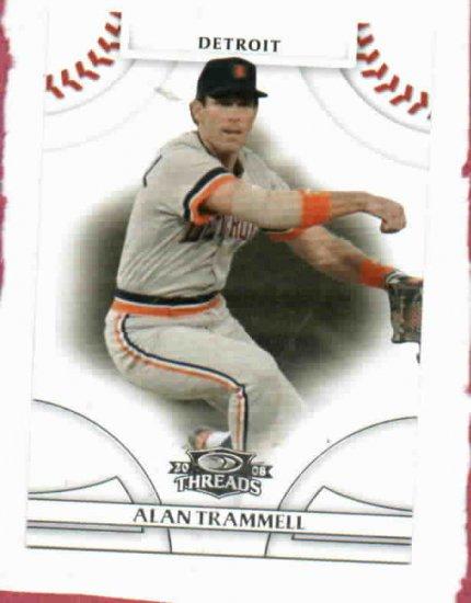 2008 Donruss Threads Alan Trammell Detroit Tigers Baseball Card