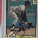 1982 Donruss Tom Brookens Detroit Tigers Baseball Card Autographed Auto