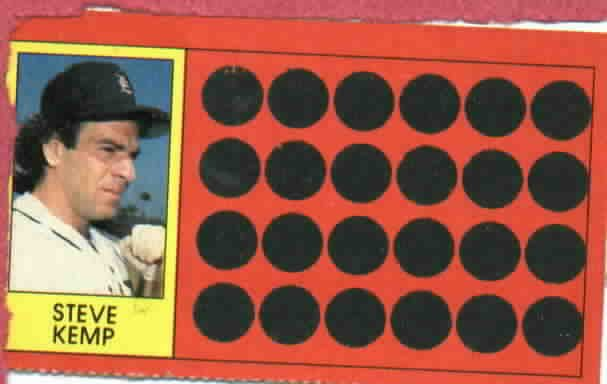 1981 Topps Scratch Off Steve Kemp Detroit Tigers Baseball Card Oddball