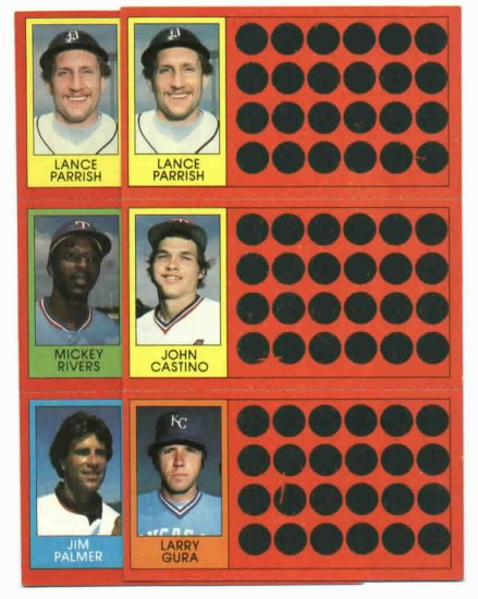 1981 Topps Scratch Off Lance Parrish 2 Diff. Variations Detroit Tigers Oddball