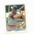 1985 Fleer Star Sticker Kirk Gibson Detroit Tigers Oddball