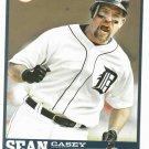2006 Detroit Free Press Sean Casey Baseball Card Tigers Oddball