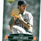 2006 Tuff Stuff Upper Deck Justin Verlander Detroit Tigers Oddball