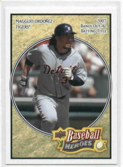 2008 Upper Deck Baseball Heroes Magglio Ordonez Detroit Tigers Baseball Card