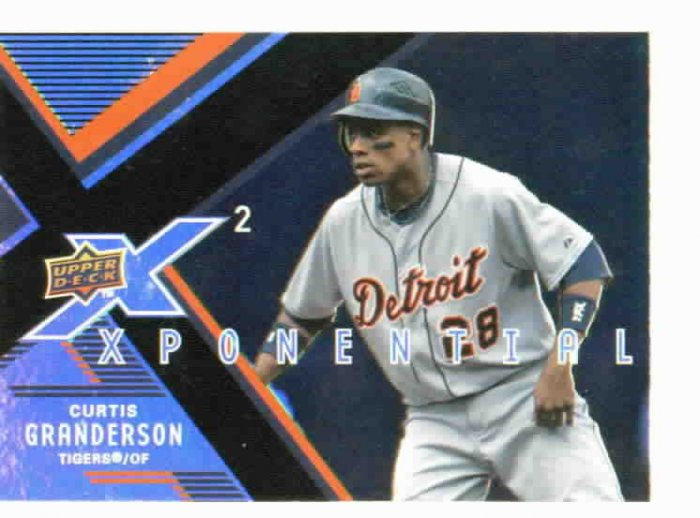 2008 Upper Deck X 2 Xponential Curtis Granderson Detroit Tigers