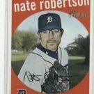2008 Topps Heritage Nate Robertson Detroit Tigers Baseball Card