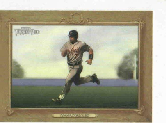 2007 Topps Turkey Red Gold Ivan Rodriguez Detroit Tigers Baseball Card
