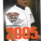 2005 Detroit Tigers Pocket Schedule Ivan Rodriguez All Star Game