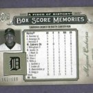 2008 Upper Deck Piece Of History Box Score Memories Miguel Cabrera Detroit Tigers #D/699