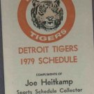1979 Detroit Tigers Pocket Rare Oddball