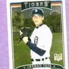 2006 Topps Chrome Jordan Tata Detroit Tigers Rookie