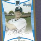 2008 Bowman Gold Will Rhymes Detroit Tigers ROOKIE