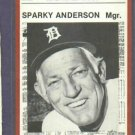 1981 Detroit News Sparky Anderson Baseball Card Detroit Tigers Oddball
