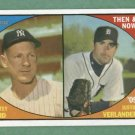 2010 Topps Heritage Then & Now Whitey Ford Justin Verlander Yankees Detroit Tigers