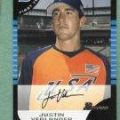 2005 Bowman Draft Picks Justin Verlander Detroit Tigers Rookie