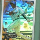 2010 Topps Chrome Refractor Redemption Austin Jackson Detroit Tigers Rookie