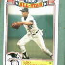 1986 Topps All Star Lou Whitaker Detroit Tigers