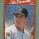 1990 Donruss Learning Series Alan Trammell Detroit Tigers Oddball