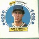 1989 Master Bread Square Disc Alan Trammell Detroit Tigers Oddball