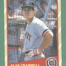 1989 Fleer Super Stars Alan Trammell Detroit Tigers Oddball