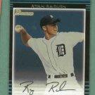 2002 Bowman Ryan Raburn Detroit Tigers Rookie