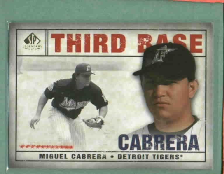 2008 Upper Deck SP Legendary Cuts Miguel Cabrera Detroit Tigers # 65