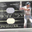 2003 Donruss Classics Dress Code Alan Trammell Jersey / Bat Dual / 250 Detroit Tigers