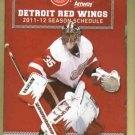 2011 2012 Detroit Red Wings Pocket Schedule Jimmy Howard