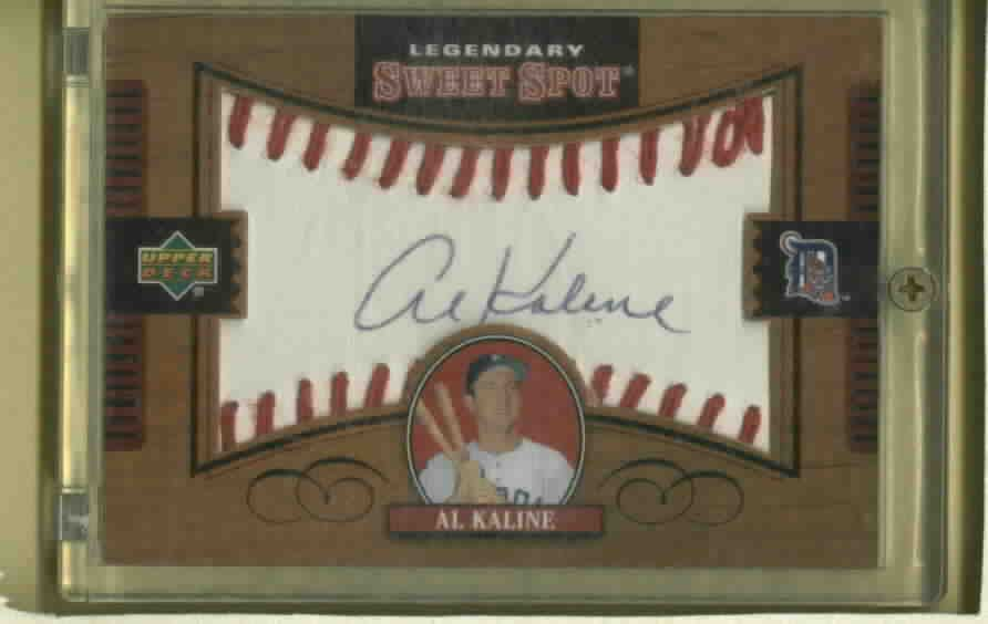 2002 Upper Deck Sweet Spot Legendary Al Kaline Autograph Detroit Tigers