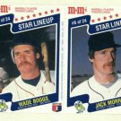1987 M&M Star Lineup Baseball Card Panel Wade Boggs Jack Morris Detroit Tigers Red Sox