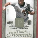 2008 Upper Deck Timeless Moments Justin Verlander Detroit Tigers #D / 699  # TM-20