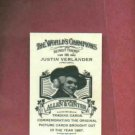 2008 Topps Allen & Ginters Justin Verlander Detroit Tigers The World Champions Back RARE # 165