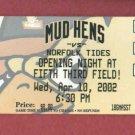 Apr 10 2002 Toledo Mudhens Opening Night Innaugrial Season 5/3 Field Detroit Tigers AAA