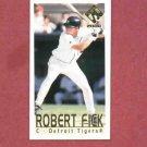 2000 Pacific Private Stock Mini Robert Fick Detroit Tigers Rookie # 19